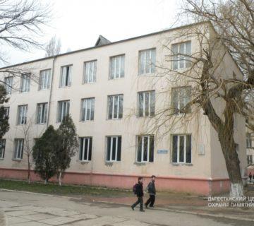 Здание средней школы №5, где размещался эвакогоспиталь № 4651 ул. М. Ярагского, 78